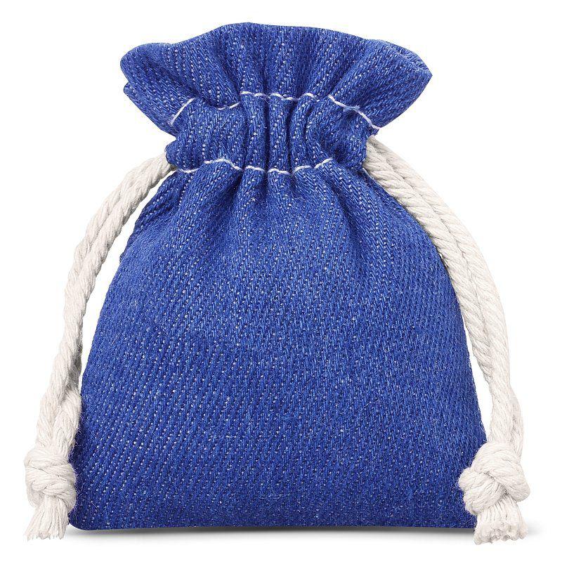3 pcs Jeans bags 10 x 13 cm - blue