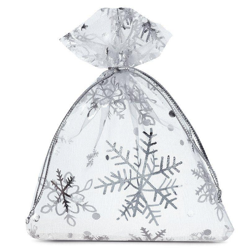 10 pcs Organza bags 10 x 13 cm - Christmas / 2