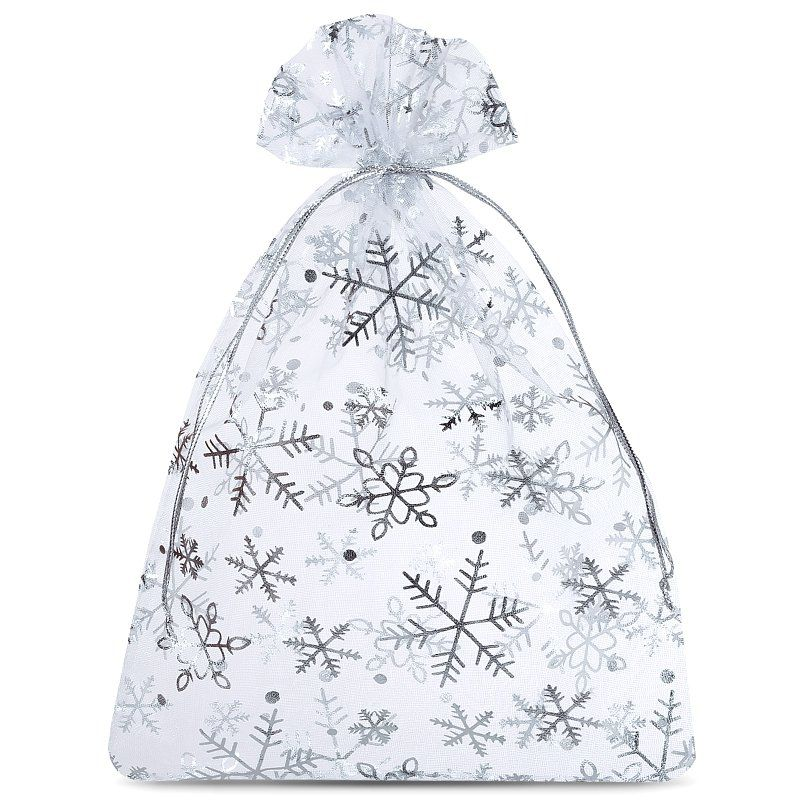 10 pcs Organza bags 15 x 20 cm - Christmas / 2