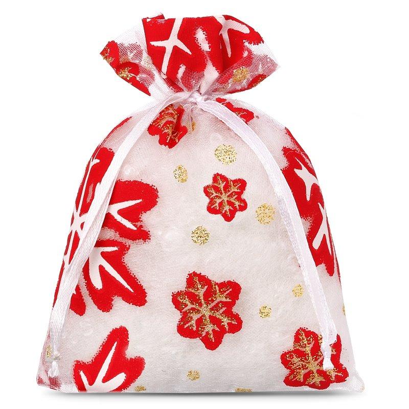 Christmas Bags.10 Pcs Organza Bags 8 X 10 Cm Christmas 1