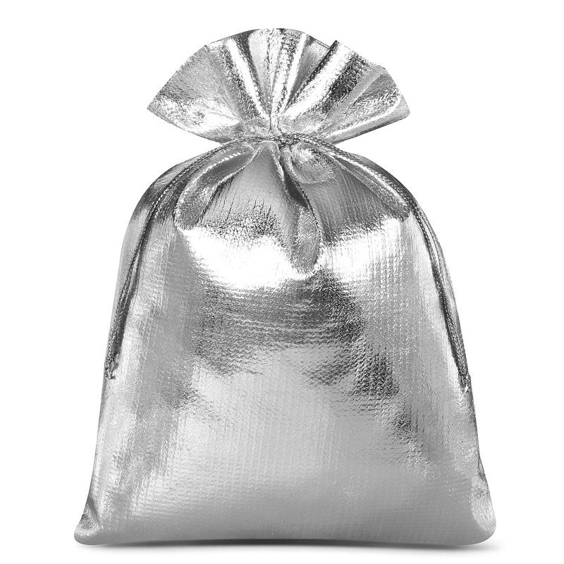 10 pcs Metallic bags 15 x 20 cm - silver