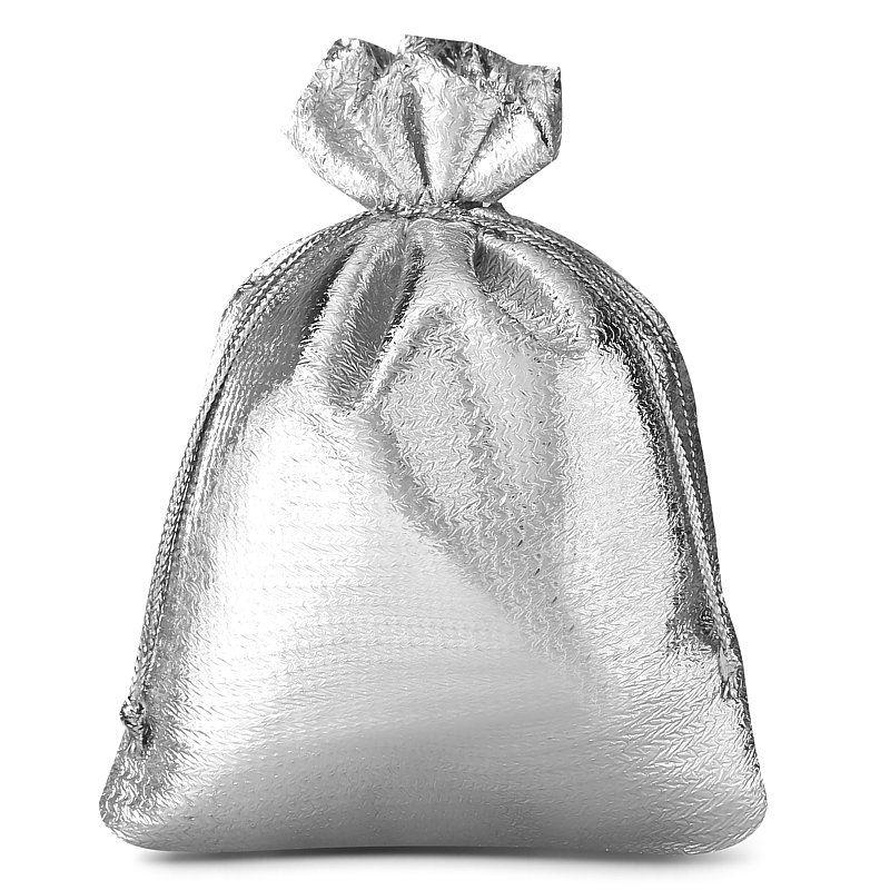 10 pcs Metallic bags 10 x 13 cm - silver