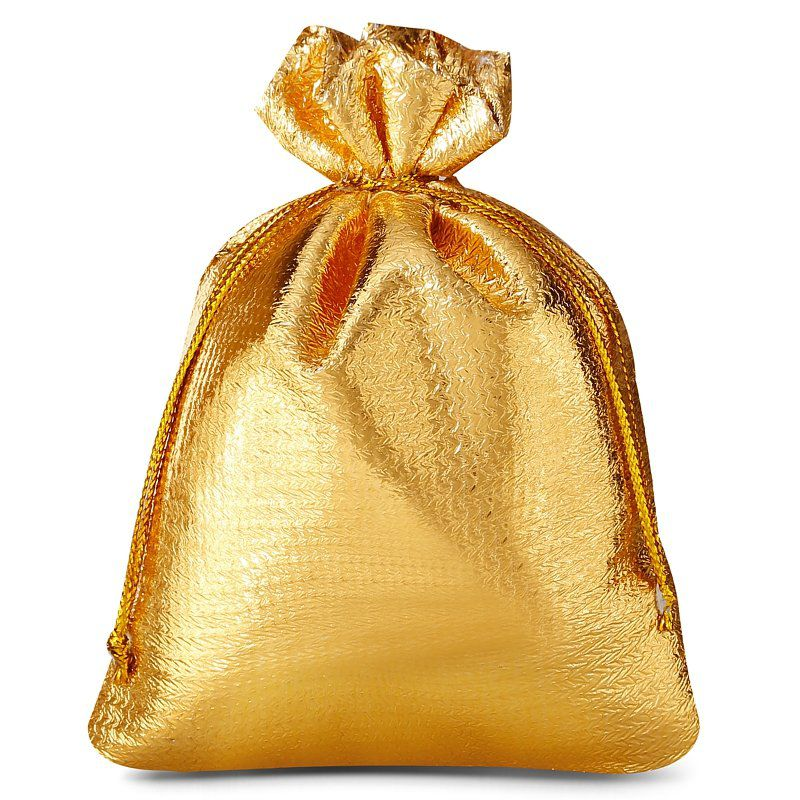 10 pcs Metallic bags 10 x 13 cm - gold