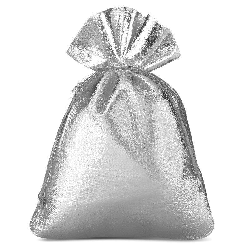 10 pcs Metallic bags 8 x 10 cm - silver