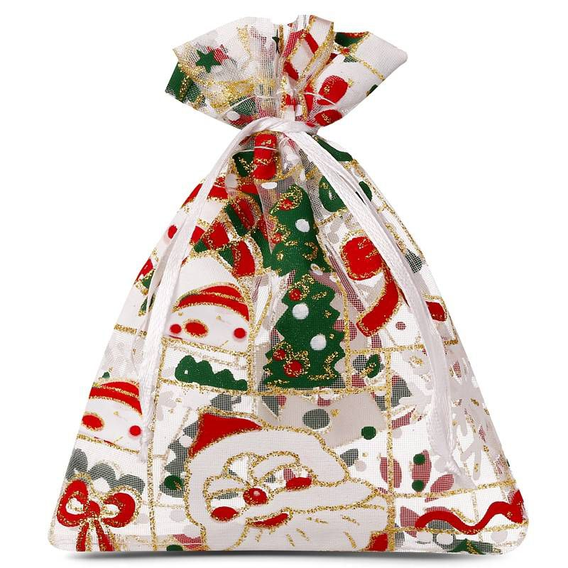10 pcs Organza bags 18 x 24 cm - Christmas / 5