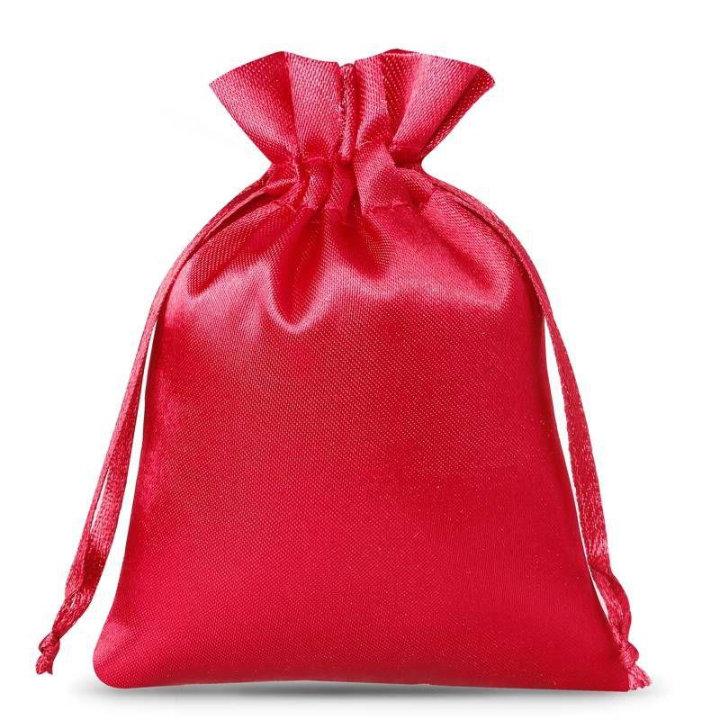 25 pcs Satin bag 8 x 10 cm - burgundy