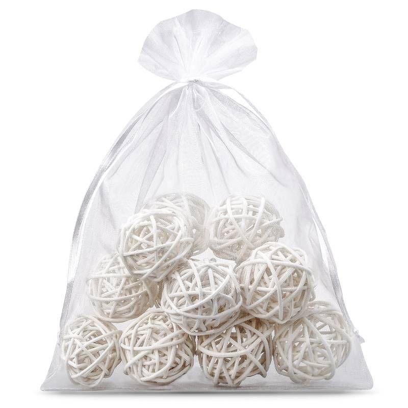 5 pcs Organza bags 26 x 35 cm - white