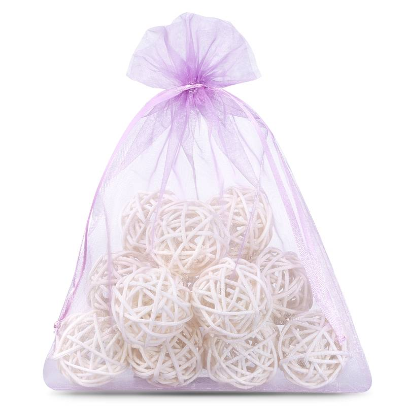 5 pcs Organza bags 26 x 35 cm - light purple
