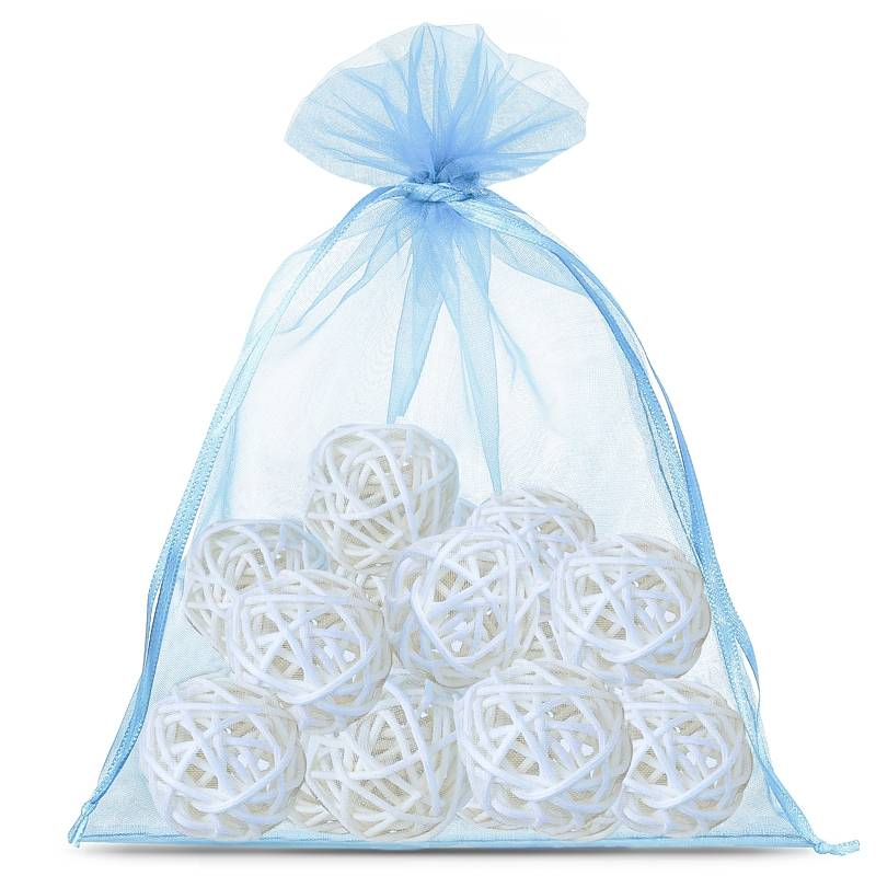 5 pcs Organza bags 30 x 40 cm - light blue