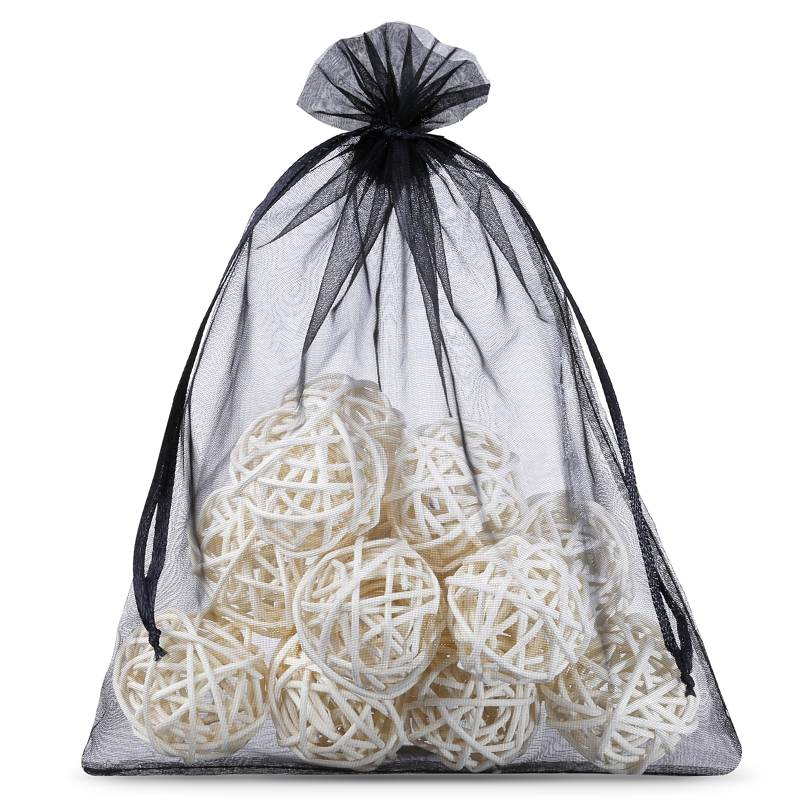5 pcs Organza bags 40 x 55 cm - black Decorative Organza bags