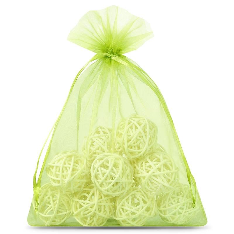 10 pcs Organza bags 15 x 20 cm - green