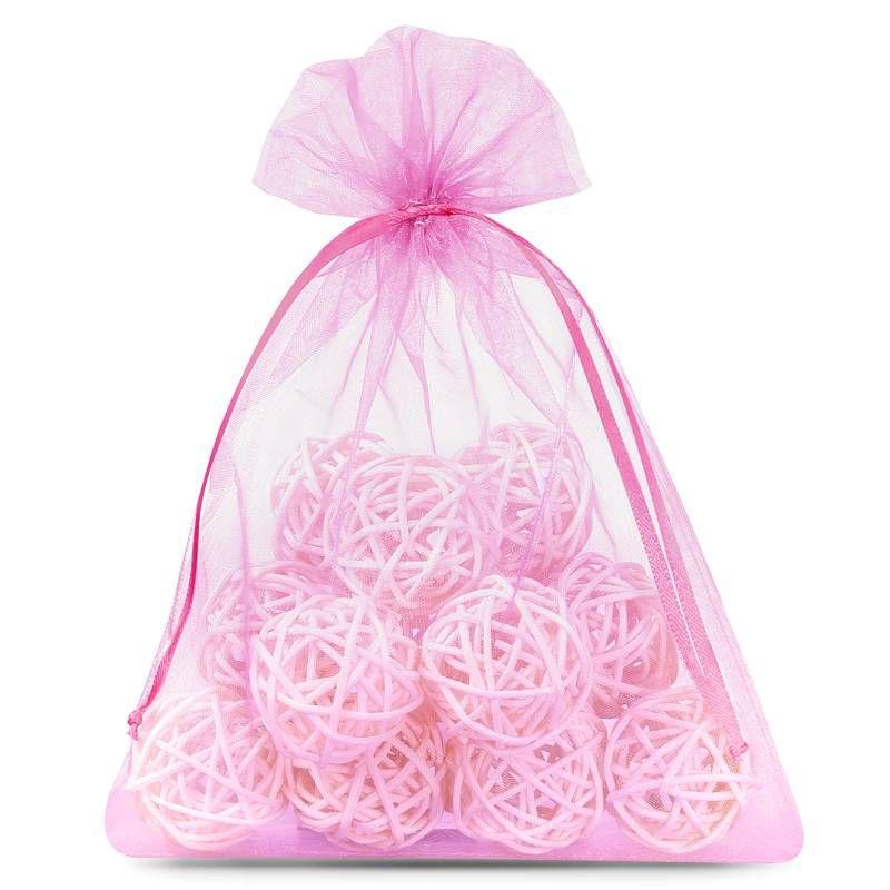 10 pcs Organza bags 15 x 20 cm - pink