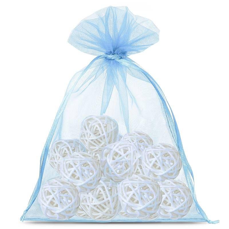 25 pcs Organza bags 13 x 18 cm - light blue