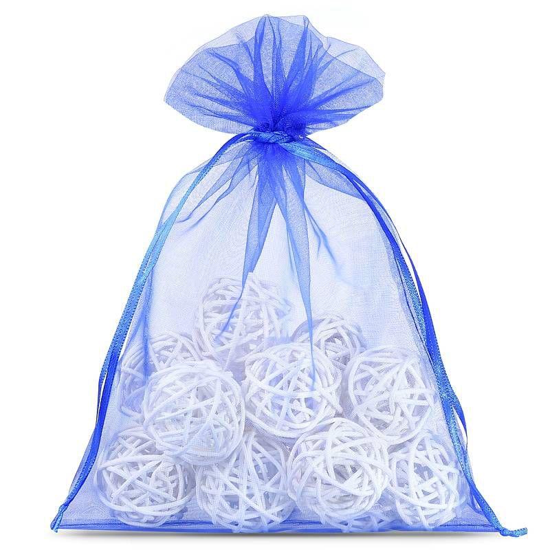 25 pcs Organza bags 13 x 18 cm - blue