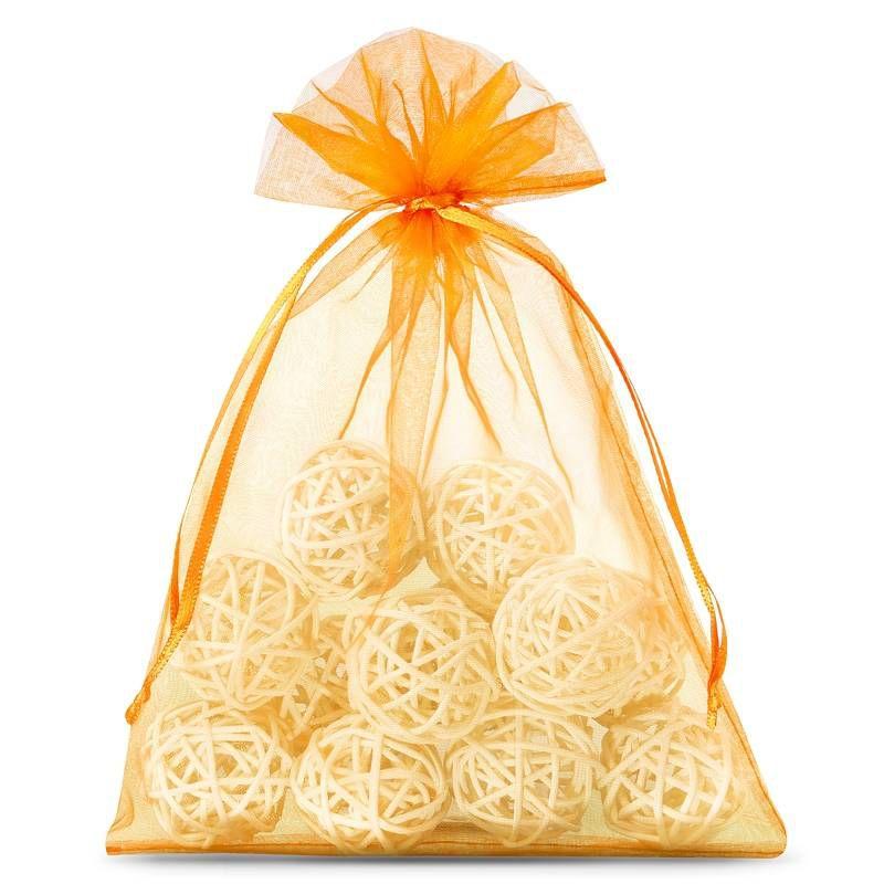 25 pcs Organza bags 13 x 18 cm - orange