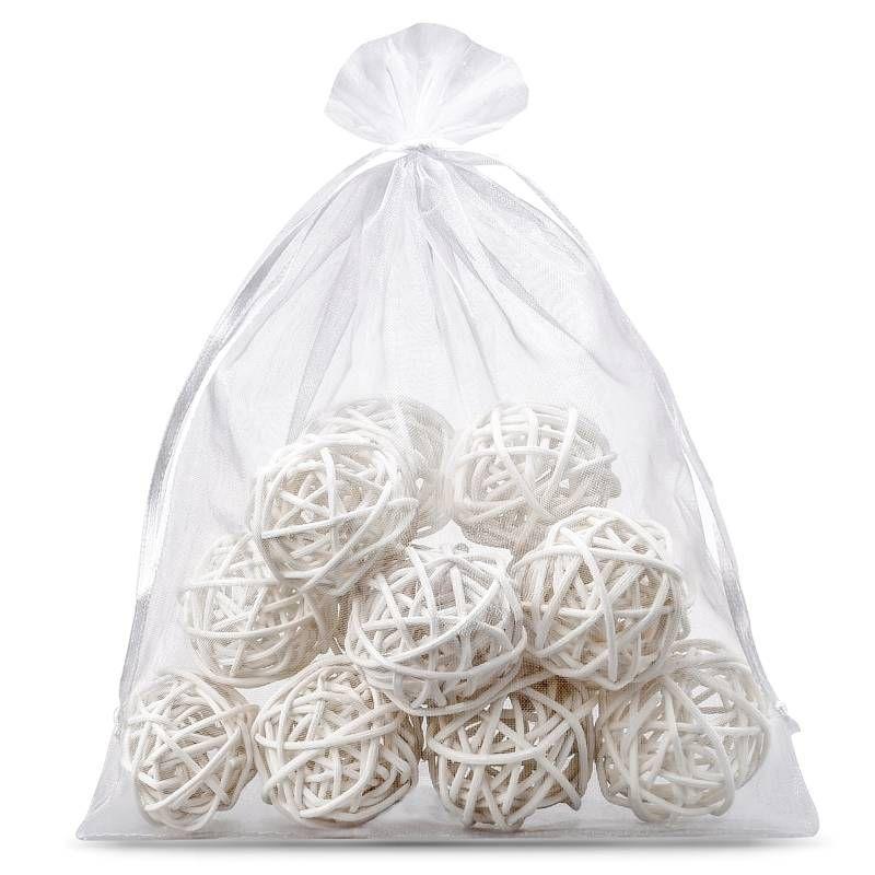 1 pc Organza bag 75 x 100 cm - white