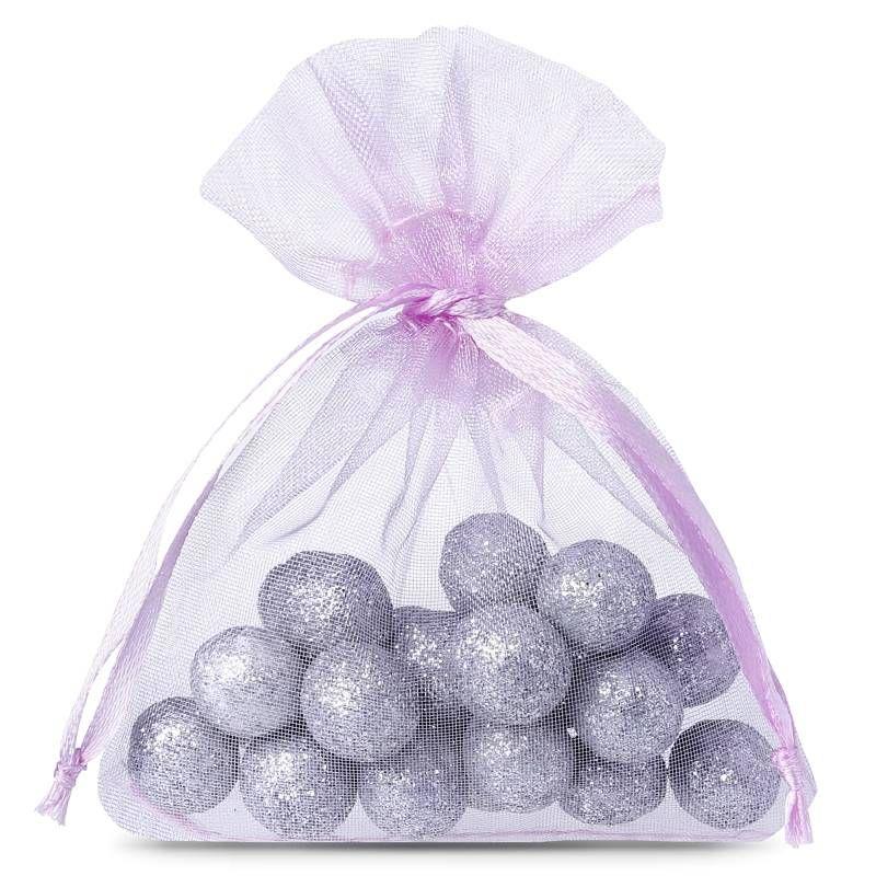 25 pcs Organza bags 7 x 9 cm - light purple