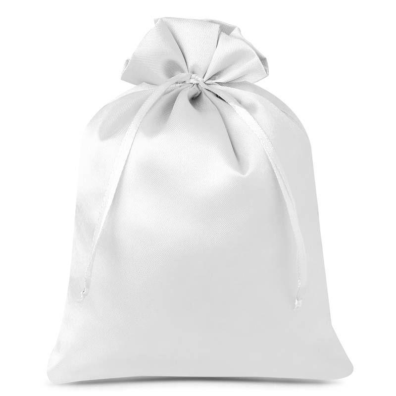 5 pcs Satin bags 22 x 30 cm - white