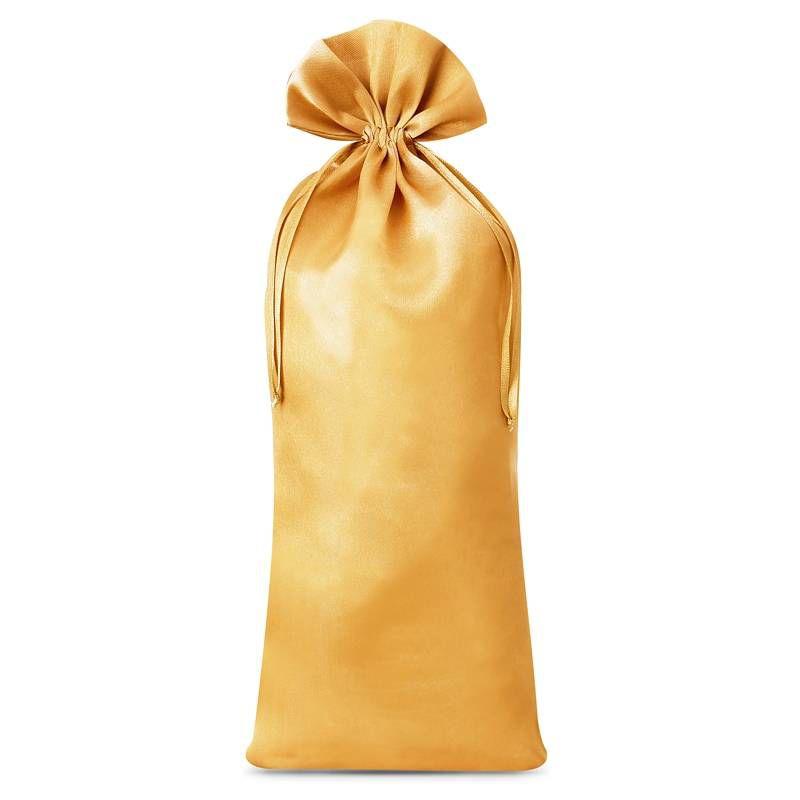 1 pc Satin bag 16 x 37 cm - gold