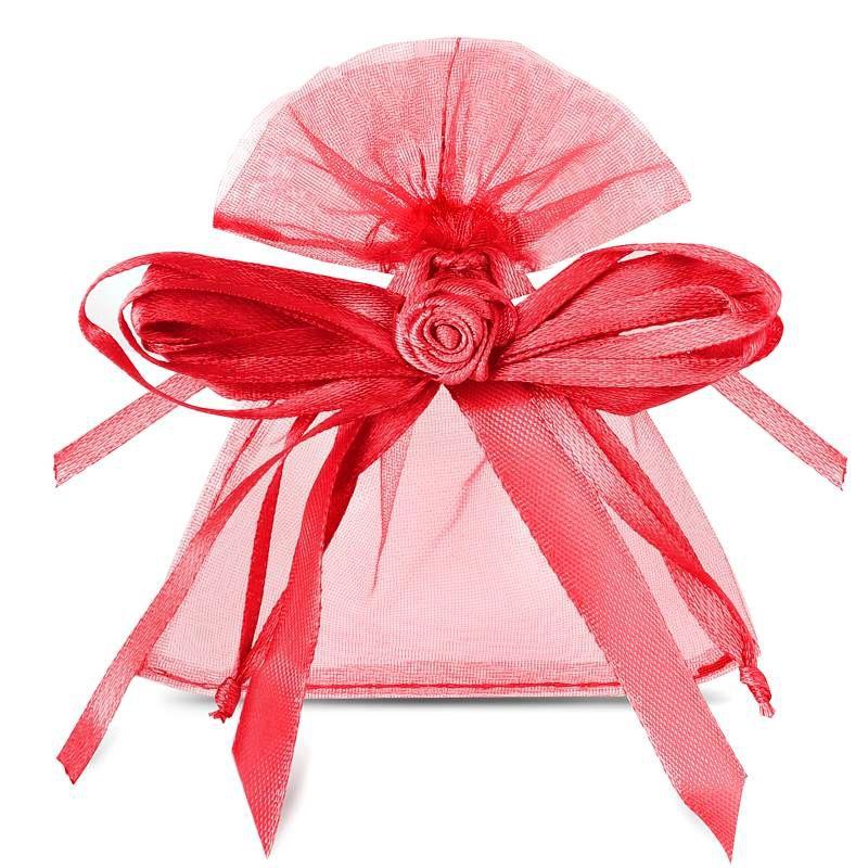 10 pcs Organza bags 8 x 10 cm - burgundy B