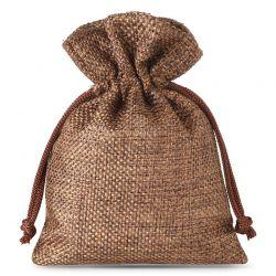 10 pcs Burlap bag 9 x 12 cm - dark natural Burlap bags