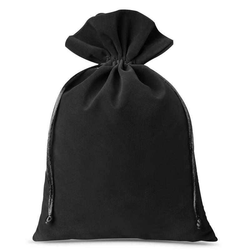 Woreczki welurowe 26 x 35 cm (3 szt.) - czarne Velvet bags