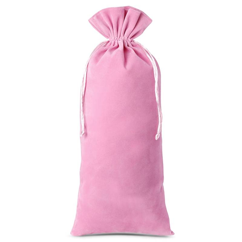 1 pc Velvet pouch 16 x 37 cm - light pink