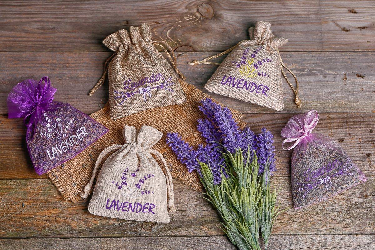 Lavender decorative bags!