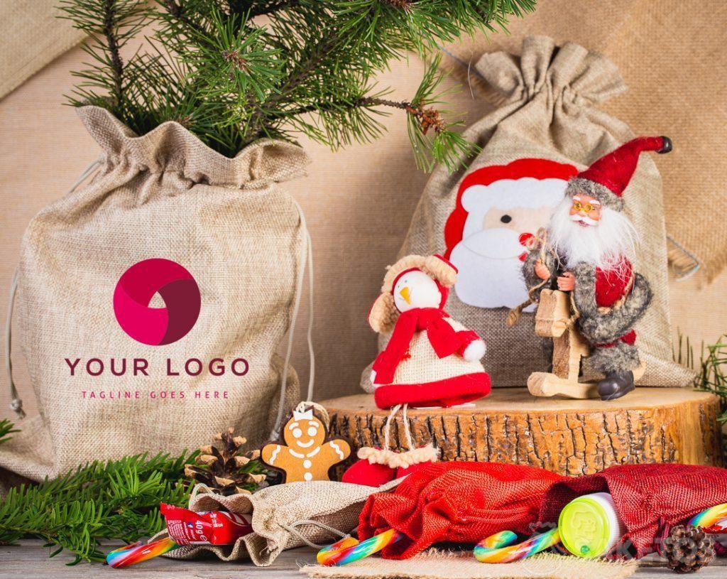 Christmas bag with your company logo