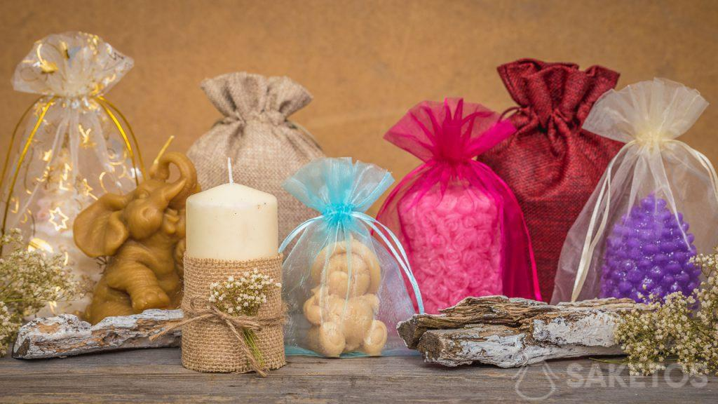 Bags are perfectly matched for handmade candles
