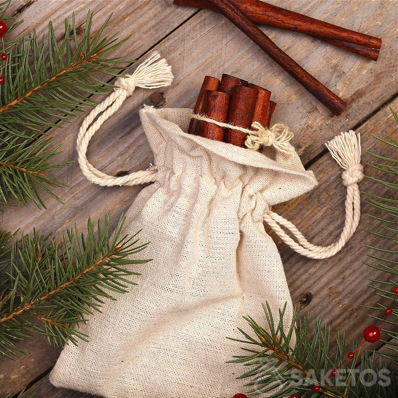 Christmas composition in a rustic style