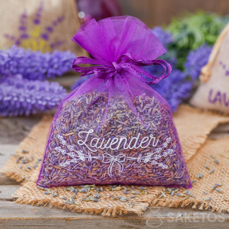 Organza bags are also great for packaging lavender