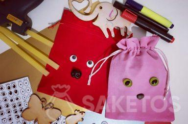 Decorating pouches for gifts - personalised DIY packaging