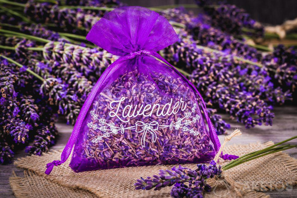 Organza bag with dried lavender