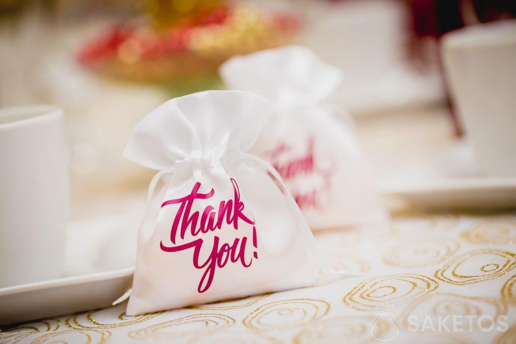 Thanks to the wedding guests