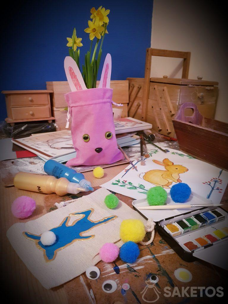 Creative with your child - DIY bags for Easter
