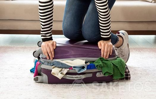 Smart suitcase packing.