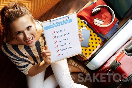 2. Prepare a travel checklist before packing.