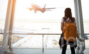 A comfortable trip with a backpack as hand luggage