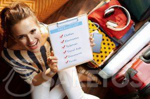Before packing up, prepare your traveller's checklist