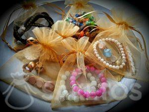 Organza bags will protect your jewellery during the trip