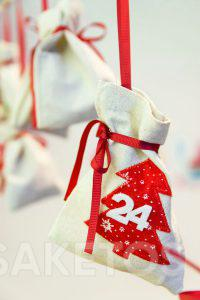 An advent calendar with gift pouches