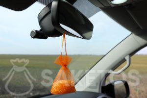 A pouch with silica gel - refreshing fragrance for your car