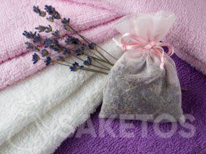 A lavender scented bag will give your towels a beautiful fragrance and provide protection from clothes moths